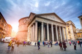 Pantheon, Rome: The dome, interior, the oculus and opening time